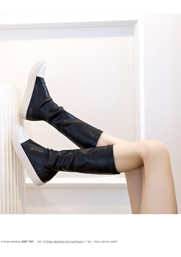 2021 autumn new women's mid-tube boots British style fashion casual platform women's boots 5927-2