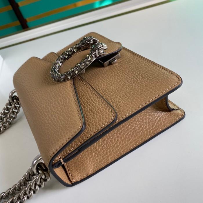 GUCCI dionysusシリーズの革ミニハンドバッグ