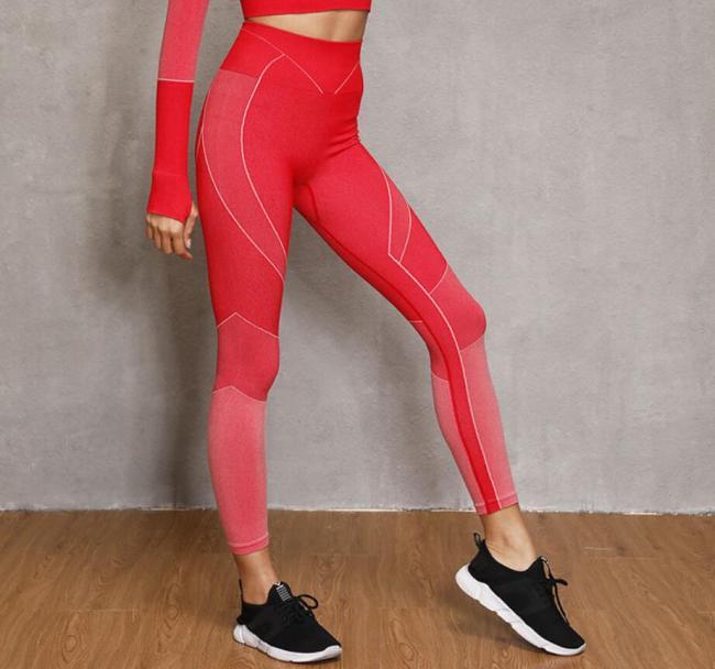無縫瑜伽褲健身運動褲