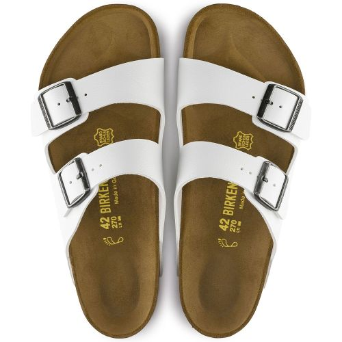 Arizona Soft Footbed Oil Leather Sandal - White(Buy 3 Get 15% OFF & Free Shipping)