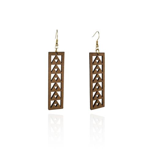 Wood earrings A100046