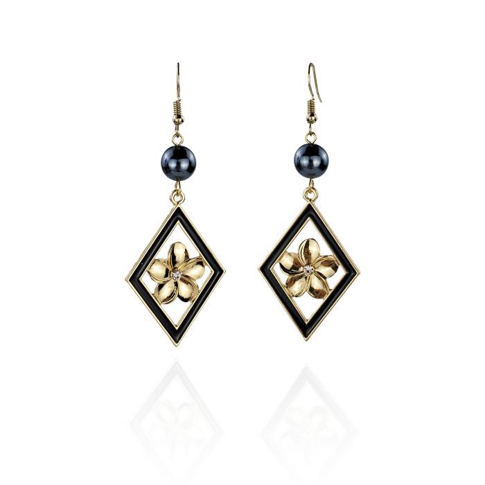 Plumeria tribal earrings