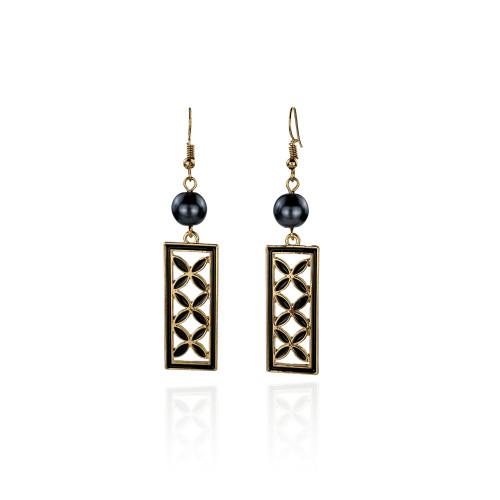 Tribal flower earrings