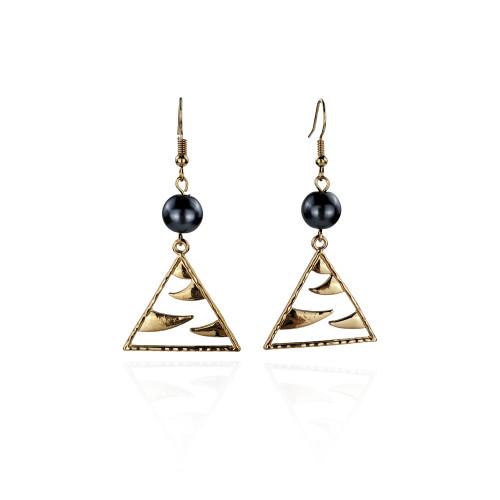 Polished  triangle  earrings