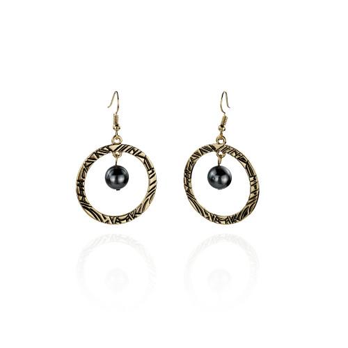 Circle tribal earrings