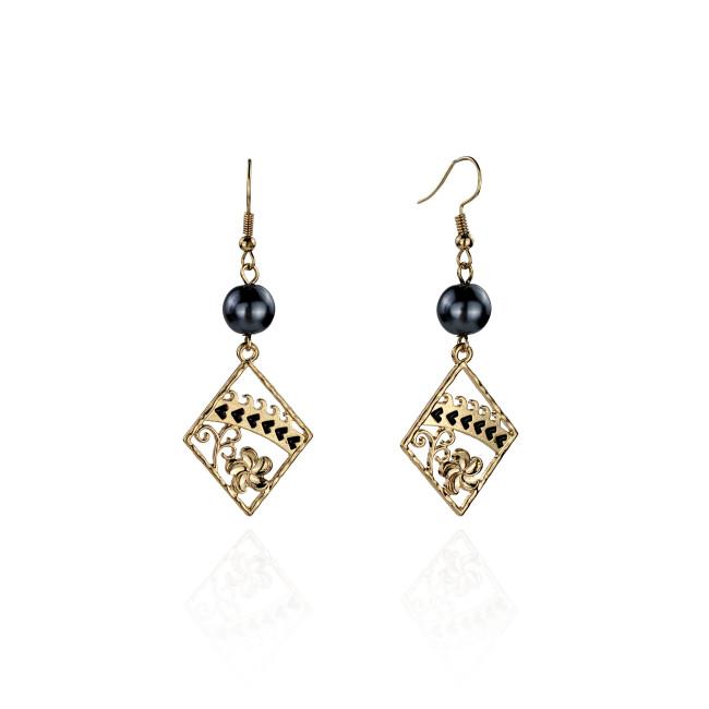 Plumeria tribal earrings A100036