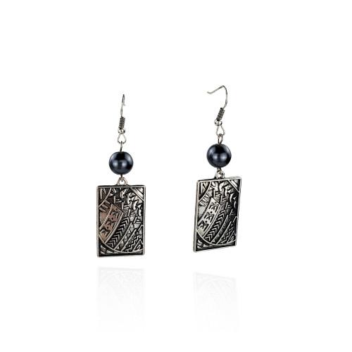 Antique silver tribal earrings A100053