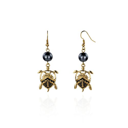 Tribal turtle earrings A100045