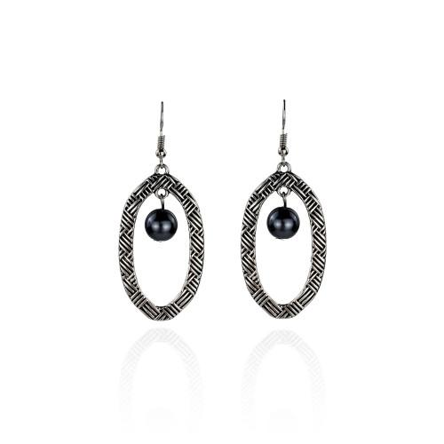 Silver tribal earrings A100054