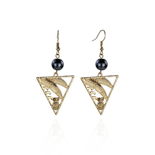 Leaf pineapple earrings A100033
