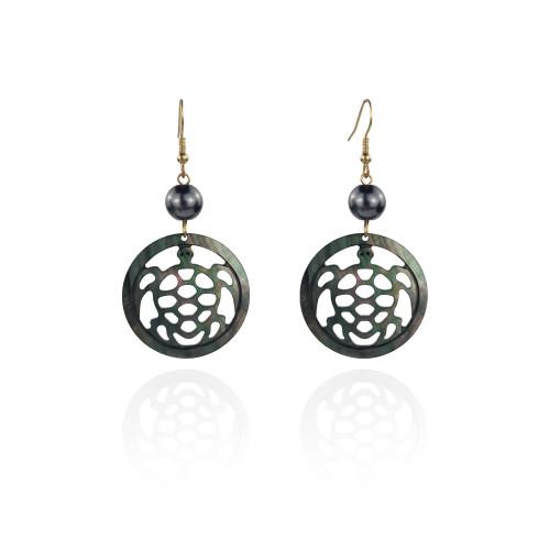 Shell turtle earrings A100084