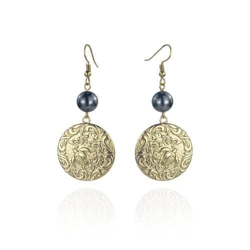 Plumeria turtle earrings A100101