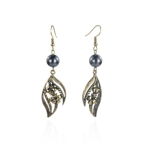 Hibiscus tribal earrings A100104