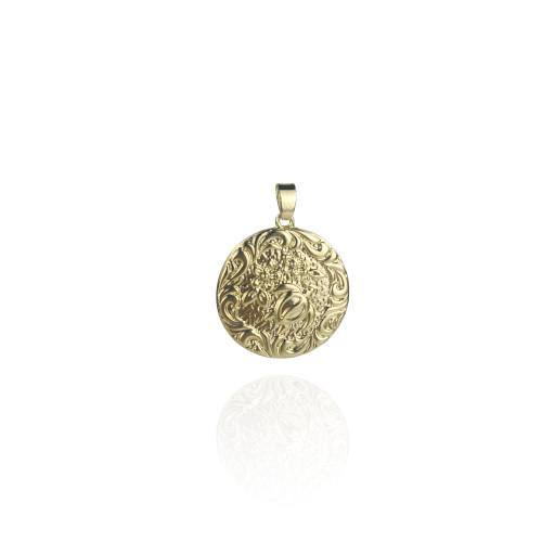 Plumeria turtle necklace A200011