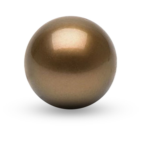 10mm Coffee Pearls Double-hole P003