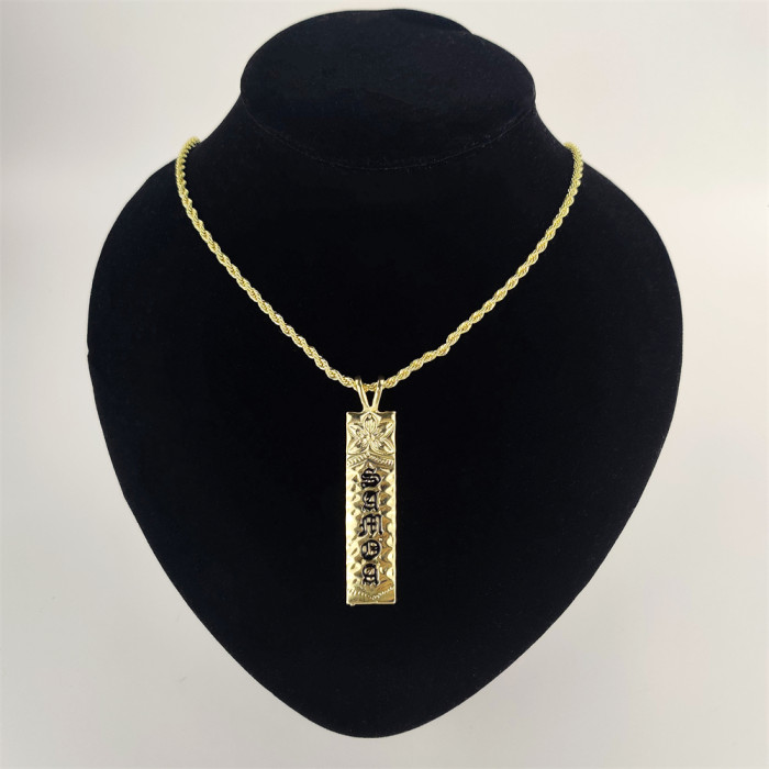 Samoa plumeria bar necklace A200002
