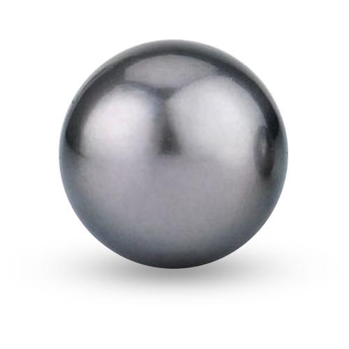 10mm Dark Gray Pearls Double-hole P001