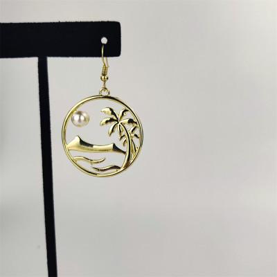 Sea life palm tree earrings A100094