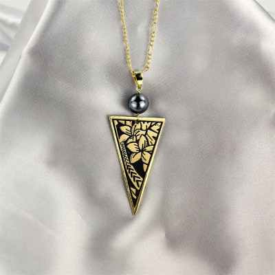 Plumeria tribal necklace A200003