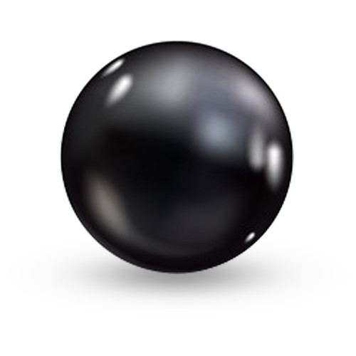 10mm Black Pearls Double-hole P006