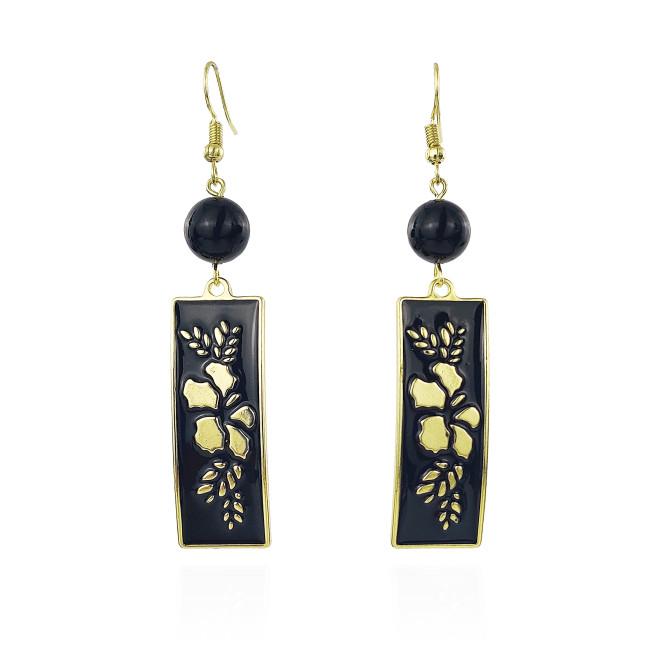 Hibiscus tribal earrings A100115