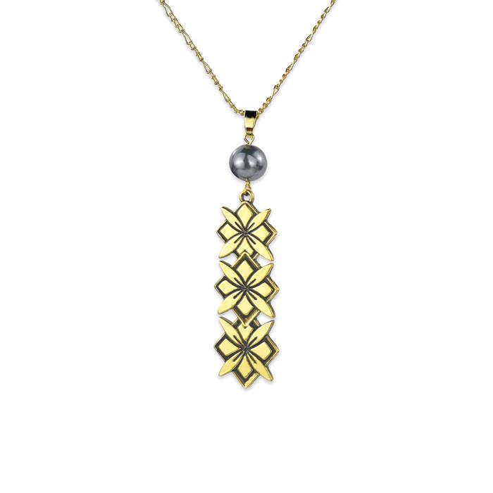 Flower necklace A200015