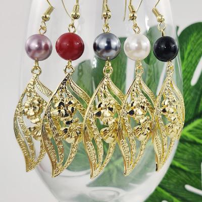 Hibiscus earrings A100104