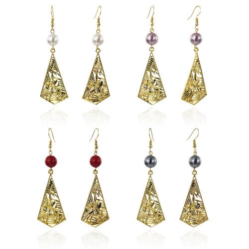 Tropic flower dangle earrings
