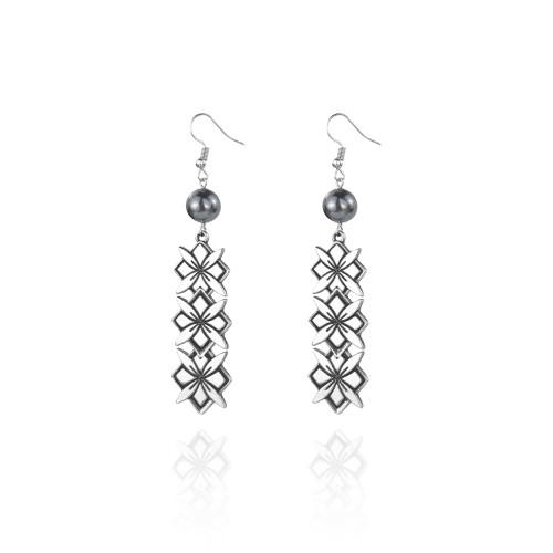 Tribal flower earrings A100097