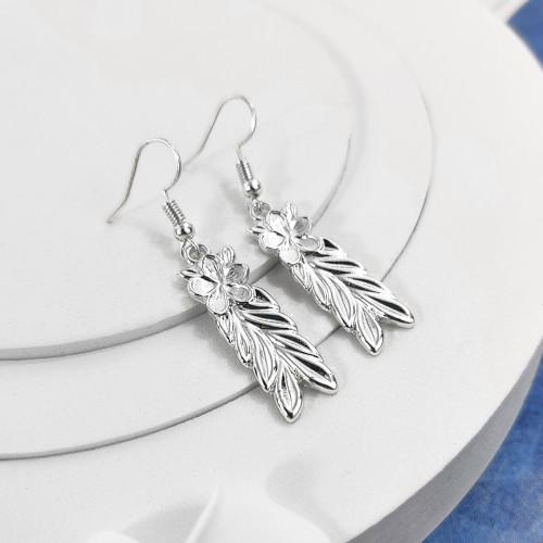 Plumeria leaf earrings A100099