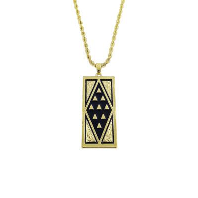 Tapa silver tribal neckalce A200025