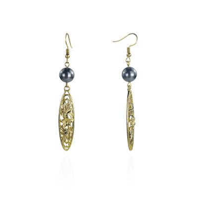 Surfboard plumeria leaf earrings A100102