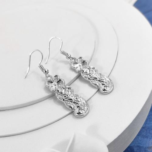 Plumeria leaf earrings A100100