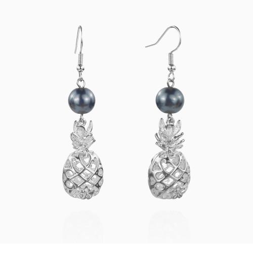 3D pineapple earrings A100087
