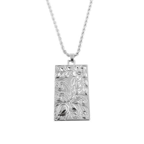 Plumeria turtle pendant