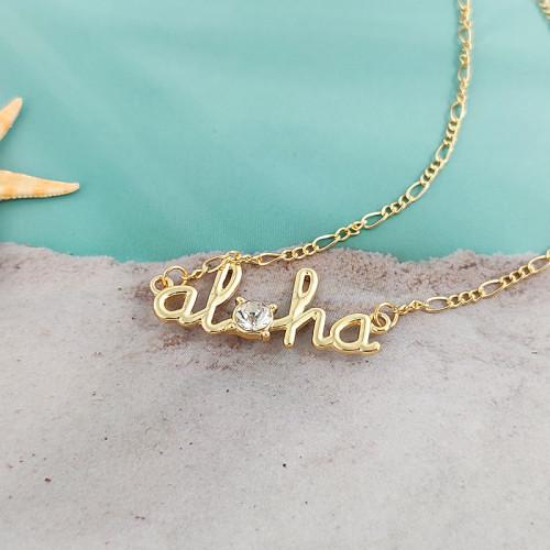 Aloha diamond necklace A200013