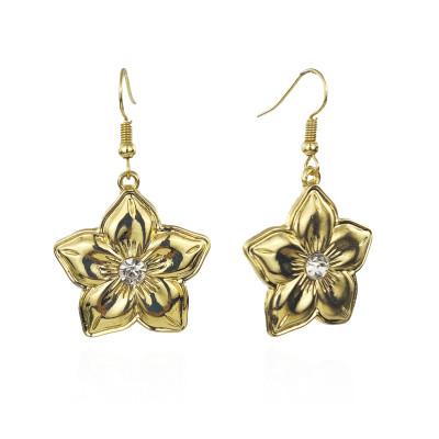 Plumeria earrings with diamond A100106