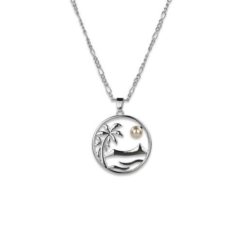 Sea life palm tree necklace A200006