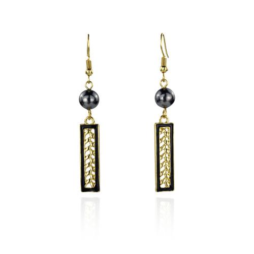 Tribal leaf earrings A100093