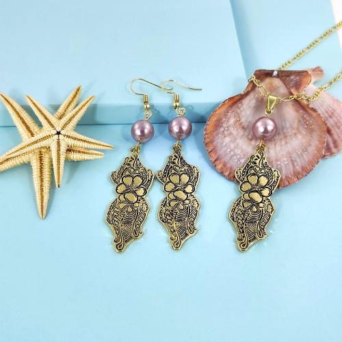 Polynesian tribal jewelry set