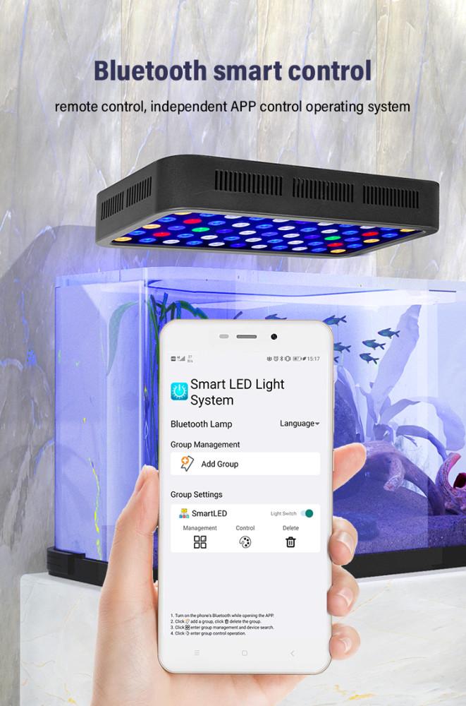 High quality power supply guarantees best heat dissipation led aquarium light