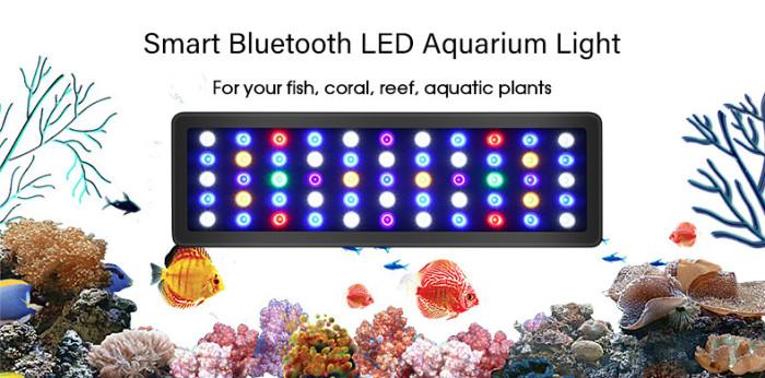 LED sea water aquarium coral growing led aquarium light Remote dimming 300W fish tank lighting