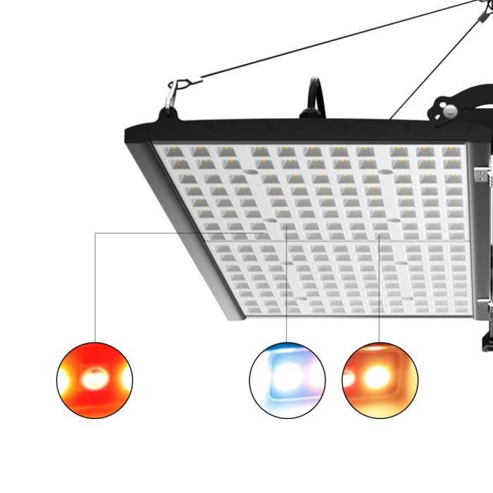 400W Dual Channel Foldable with Bluetooth Control for Indoor Plant LED Grow Light