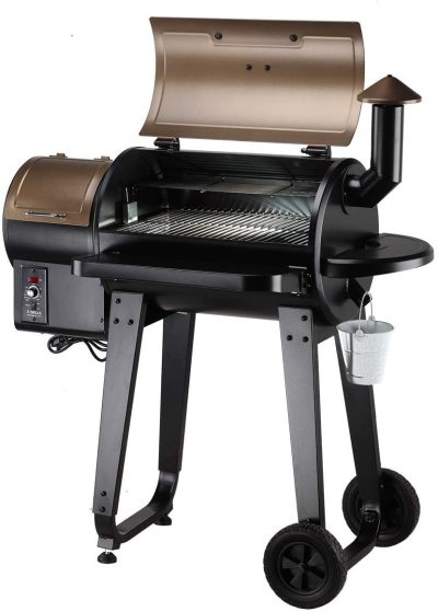 Wood Pellet Grill Smoker for Outdoor Cooking with Wireless Meat Probe Thermometer, 2021 Upgrade, 8-in-1 & Pid Controller