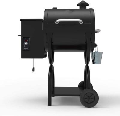 2020 New Model Wood Pellet Grill & Smoker 6 in 1 BBQ Grill Auto Temperature Control, 590 sq in Black