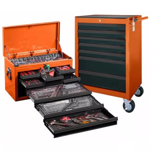 SCMT10159 O Tool Kit 262 Piece Met/AF Top Chest & Roll Cab Orange #10159O