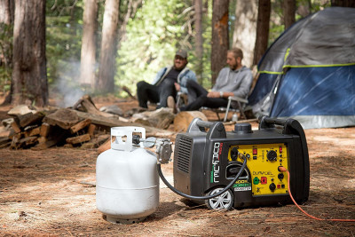 3400-Watt Dual Fuel RV Ready Portable Inverter Generator with Electric Start
