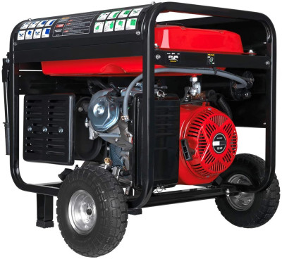 DS12000EH Portable Generator, Red/Black
