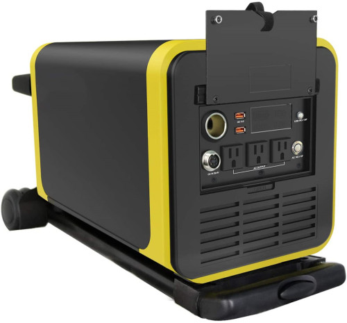 Q3000S Portable Power Station 2000W,3024Wh Backup Lithium Battery,110V/2000W Pure-sine Wave,AC Outlet,12V DC Cigar,QC3.0 USB,Solar Generator for Outdoors Camping Fishing Emergency Q3000S