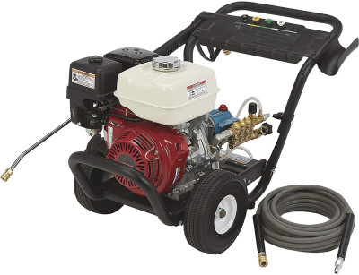 Gas Cold Water Portable Pressure Washer Power Washer - 3600 PSI, 3.0 GPM, Honda Engine, Model Number 157124